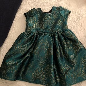 Green and Gold Gymboree Dress